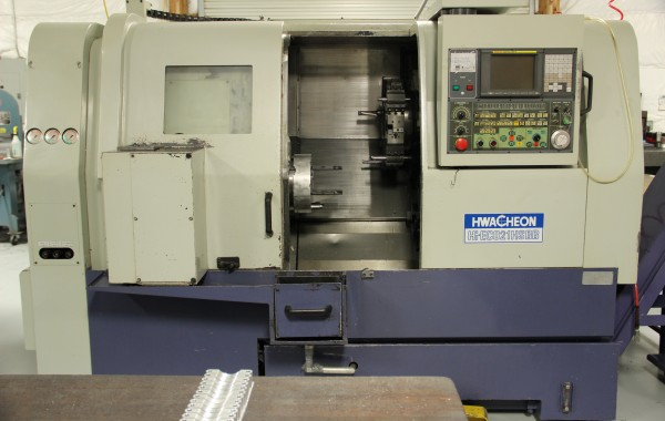 Hwacheon HI ECO21 HSBB CNC Lathe Max turning diameter 11""