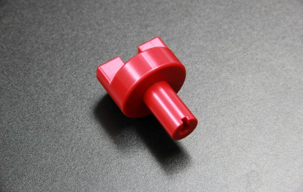 CNC milled red acetal