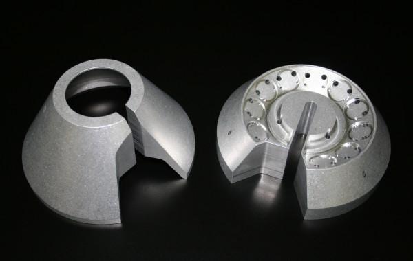 CNC 3D milled aluminum