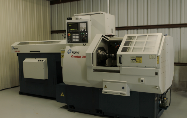 "Romi Centur 30G CNC Lathe with Bar Feeder Max turning diameter 1-5/8"", Max Length 4.72"""